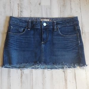 Paige Denim Malibu Mini Skirt Blue Short 28